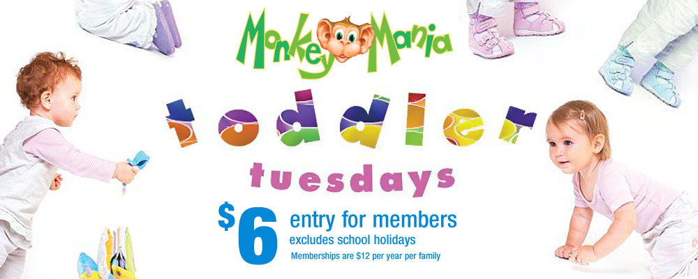 Monkey Mania The Place to Play and Party Toddler Tuesdays