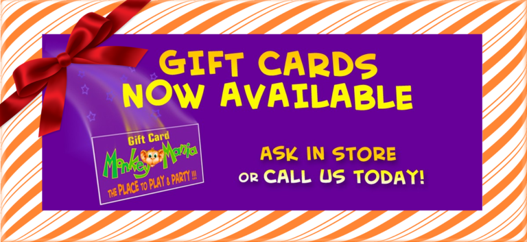 Gift Cards Monkey Mania Children's Birthday Party Venue