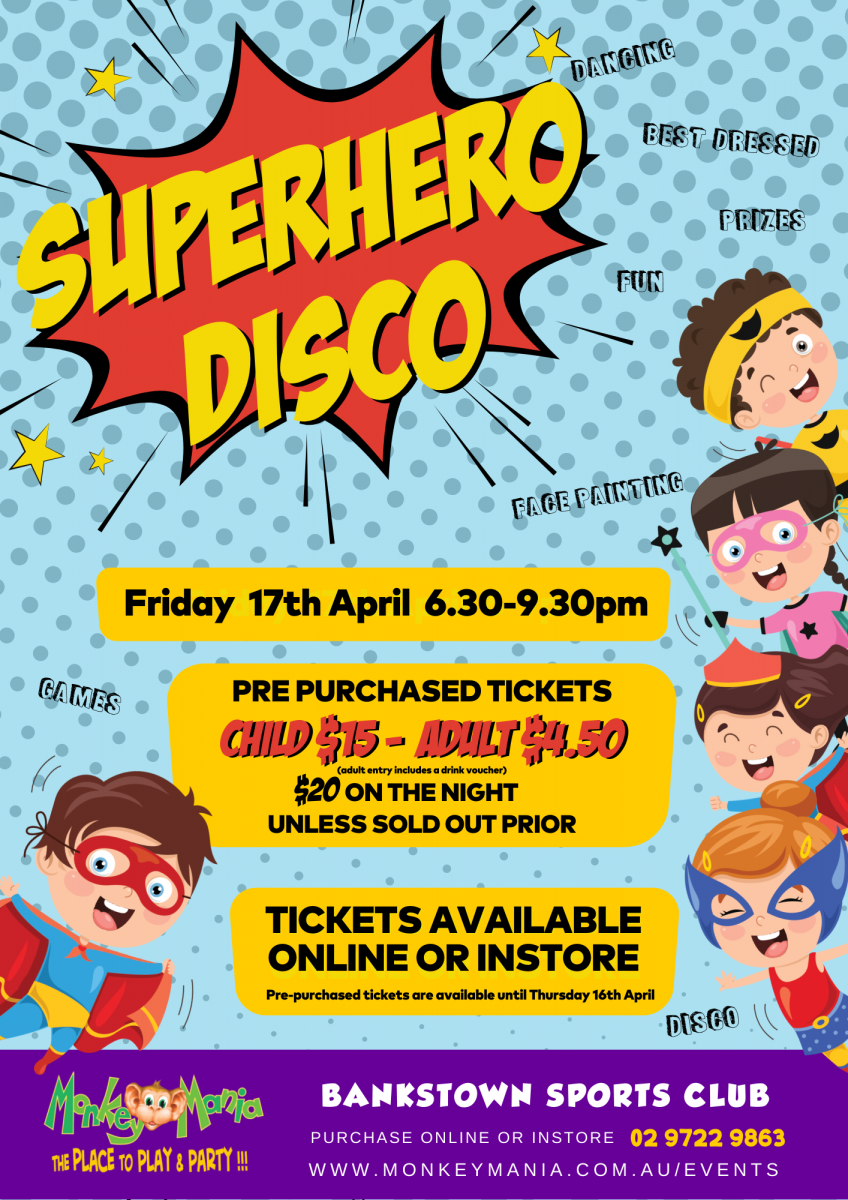 Superhero Disco Bankstown