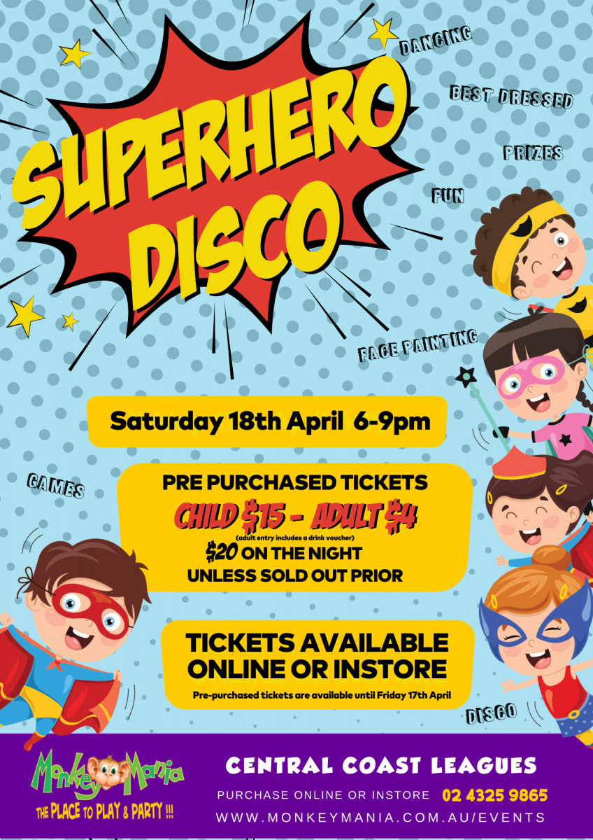 Superhero Disco Gosford