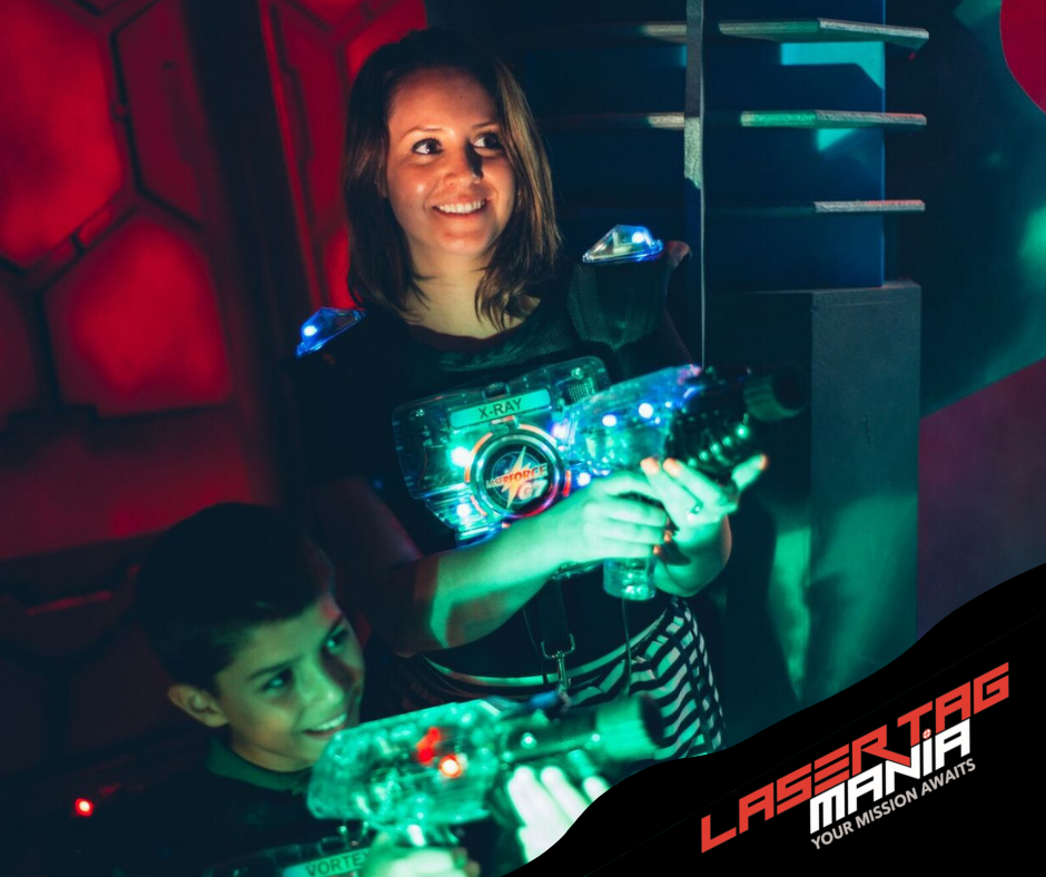 Your Mission Awaits. Laser Mania is a state of the art laser tag game offering casual play, birthday party packages, teens, adults, school groups