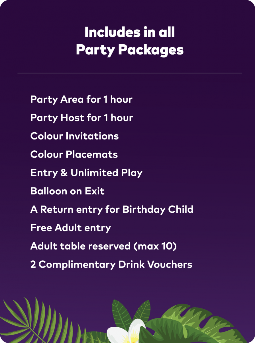 All inclusions packages